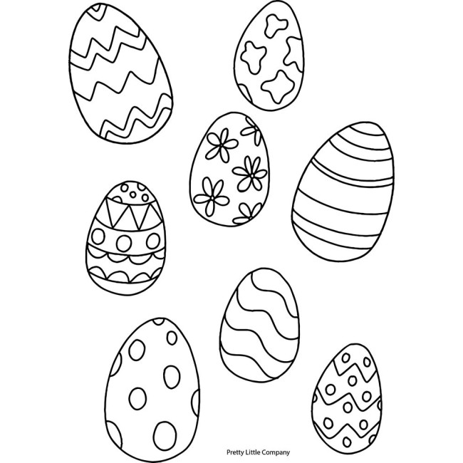 Easter Egg Colouring Page - Free Download | on The Hive NZ ...